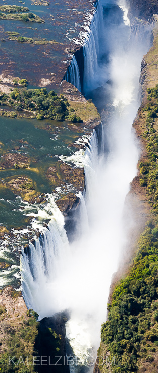 Victoria Falls from a helicopter taken at 1/1600 sec to avoid vibration